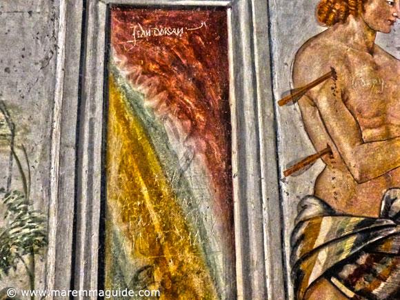 16th century graffiti in Seggiano Maremma