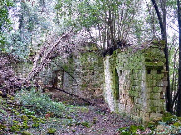Abbazia di San Salvatore di Giugnano: remaining north and part of eastern external walls.