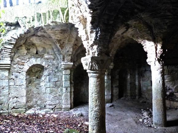 Naves and columns of the Cripta di GIugnano.