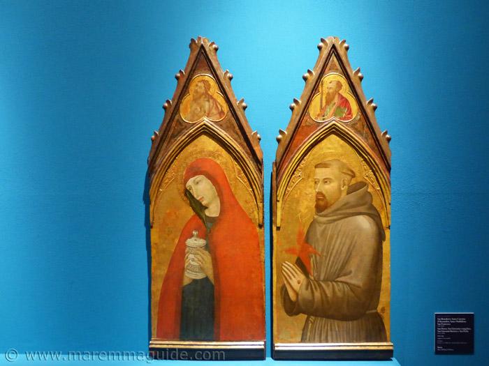 Ambrogio Lorenzetti: Santa Maddalena e San Francesco.