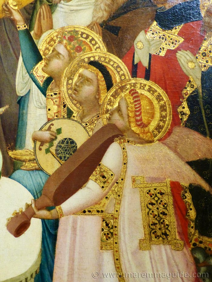 Ambrogio Lorenzetti angels in The Maesta, 1335.