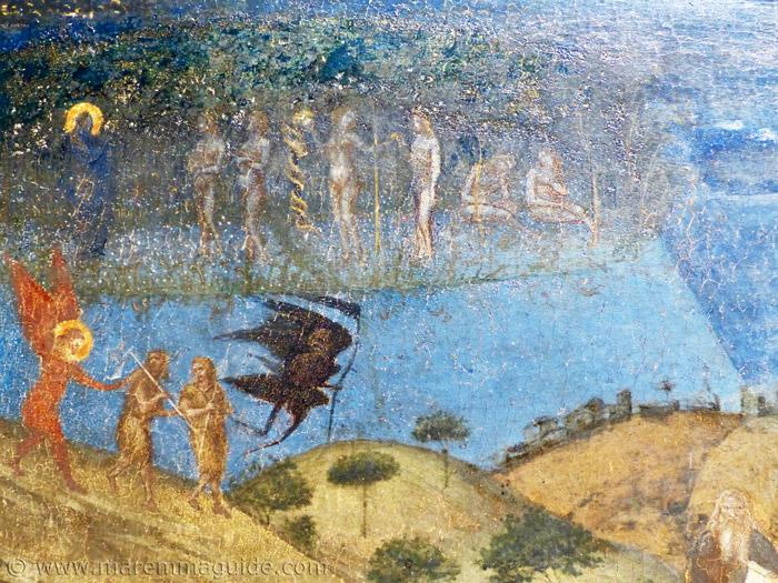 Ambrogio Lorenzetti Allegoria della Redenzione detail.