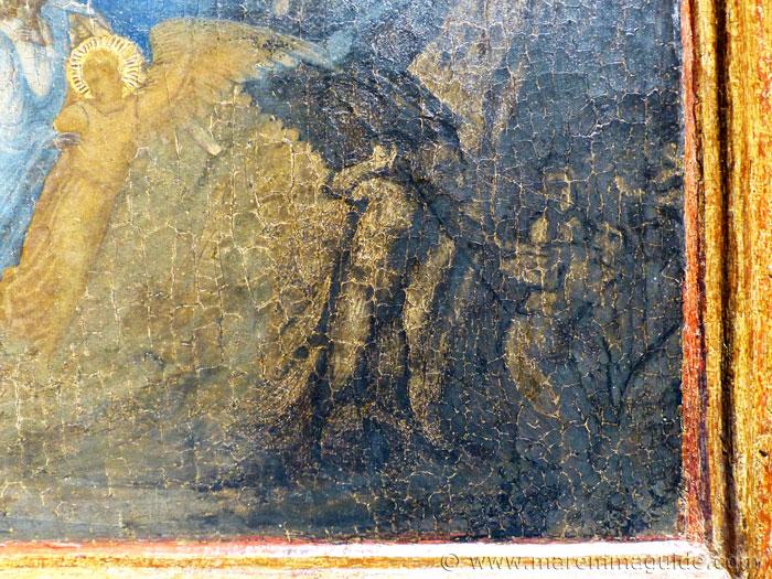 Ambrogio Lorenzetti grim reaper detail.