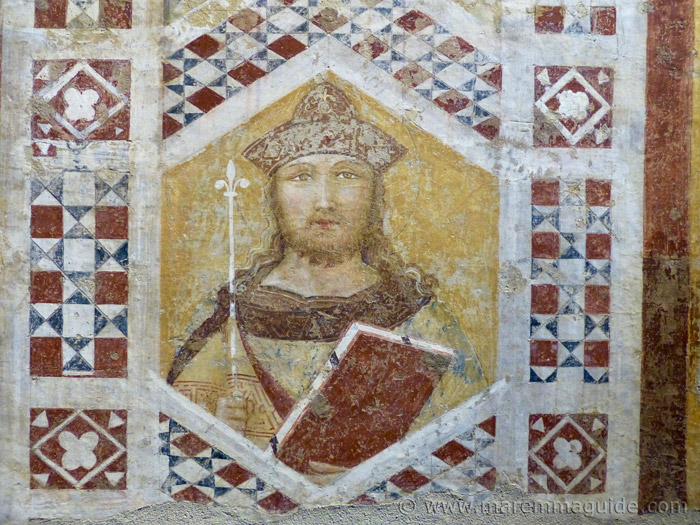 Ambrogio Lorenzetti fresco: King Solomon. Re Salomone.