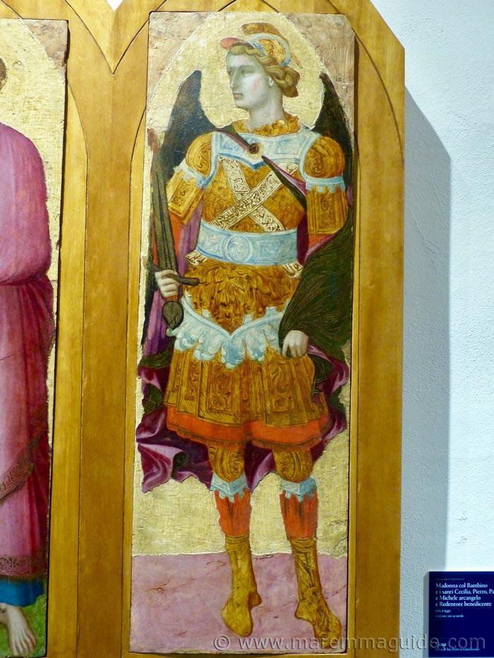 Ambrogio Lorenzetti gallery of art: Saint Michael the Archangel.