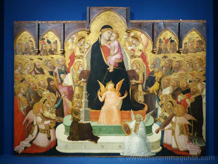 Ambrogio Lorenzetti Maesta 1335 Madonna and Child.