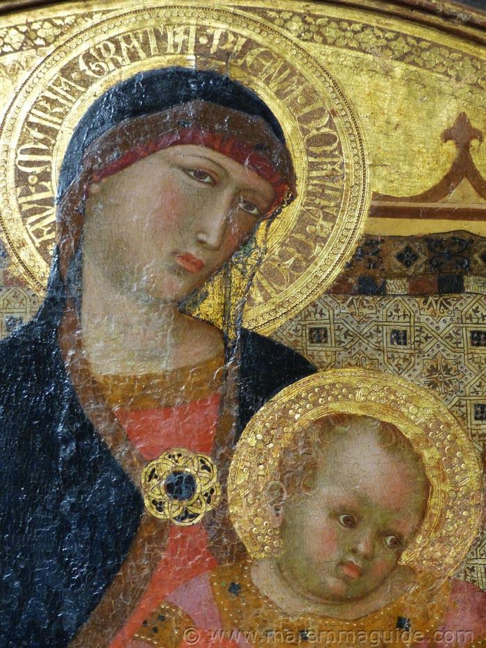Ambrogio Lorenzetti Madonna and child.