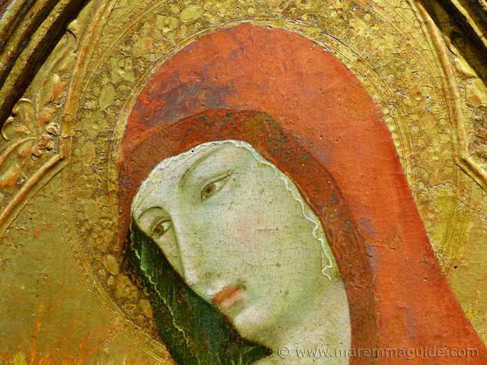 Ambrogio Lorenzetti paintings: detail of Saint Magdalene.