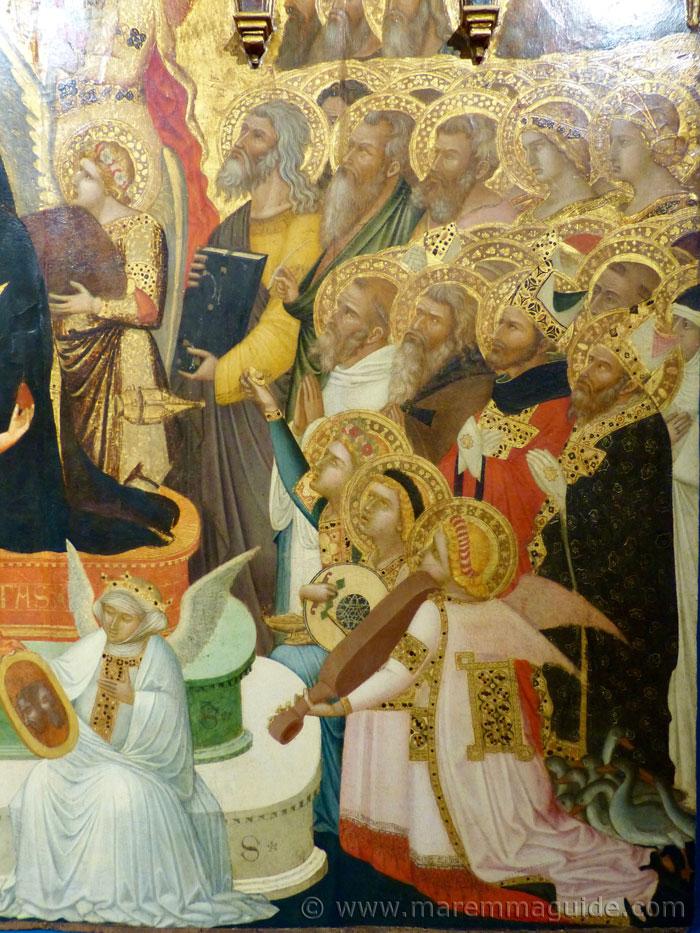 Ambrogio Lorenzetti Prohets, Saints, Angels, The Maesta 1335.