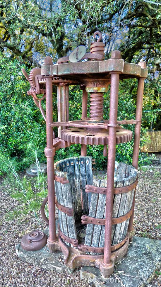 Ancient Tuscany wine press