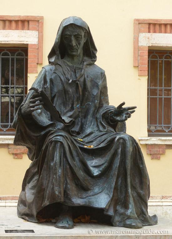 Andrea da Grosseto mounment in Grosseto Tuscany.