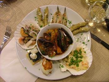 Italian seafood starter: antipasto misto di mare