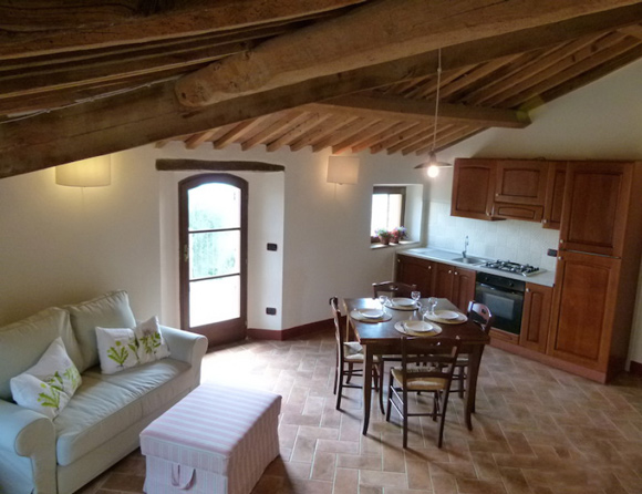 Holiday apartment for sale in Tuscany countryside.