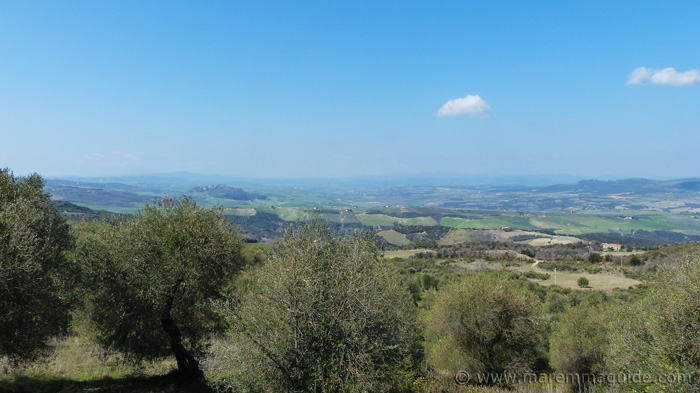 Apartment for sale in Tuscany: view of the Val d'Orcia valley Italy