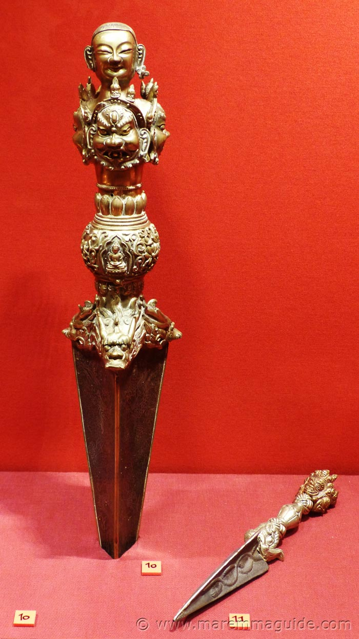 Ceremonial Tibetan daggers.