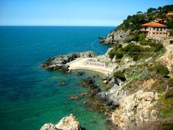 Talamone beaches: Bagno delle Donne spiaggia Maremma Tuscany