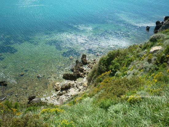 Public beach Talamone Italy
