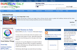BlogFromItaly website