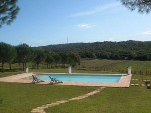 Borgognano Farmhouse Tuscany swimming pool