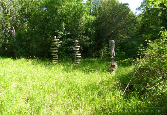 Bosco della Sterpaia wooden art installation