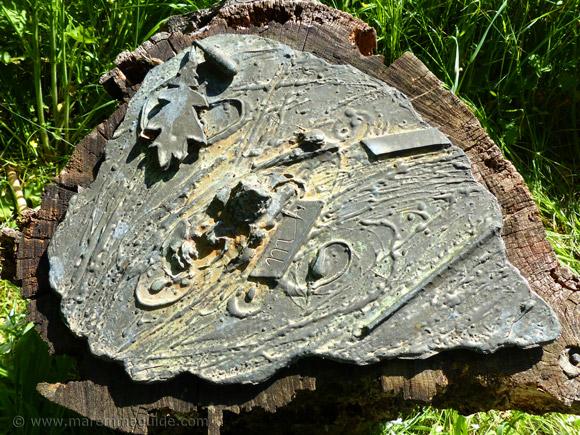 Bosco della Sterpaia bronze art installation