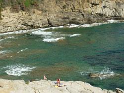 Buca delle Fate beach, Populonia Maremma Tuscany Italy