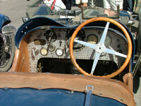 Bugatti car steering wheel and controls