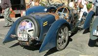 Blue Bugatti car