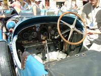 Inside of a Bugatti car