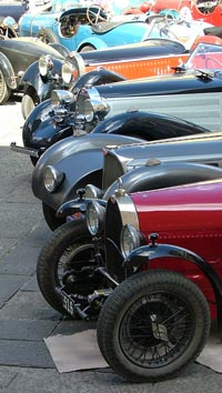 Bugatti cars on show