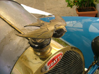 Bugatti car bird statue