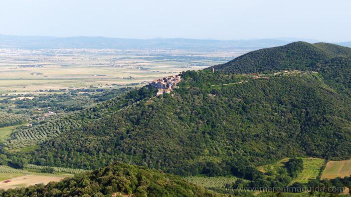 Buriano Castiglione della Pescaia: view from Vetulonia