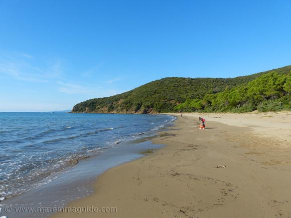 Cala Civette beach in Tuscany in October.