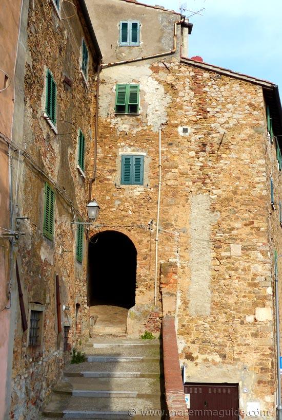 Campiglia Marittima medieval city entrance