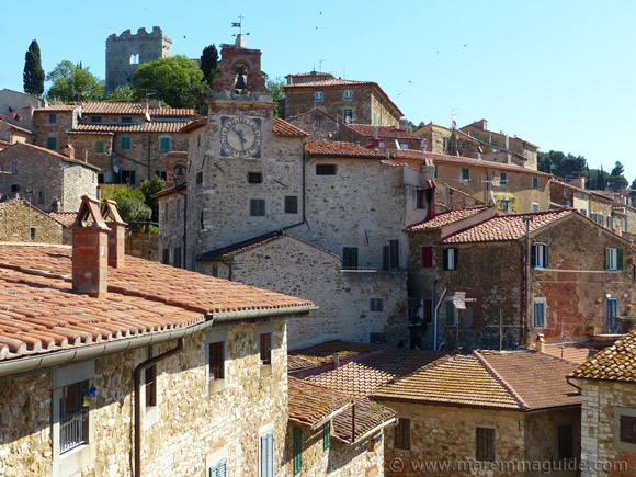 Campiglia Marittima: view from one of the town's tiny rooftop terraces.