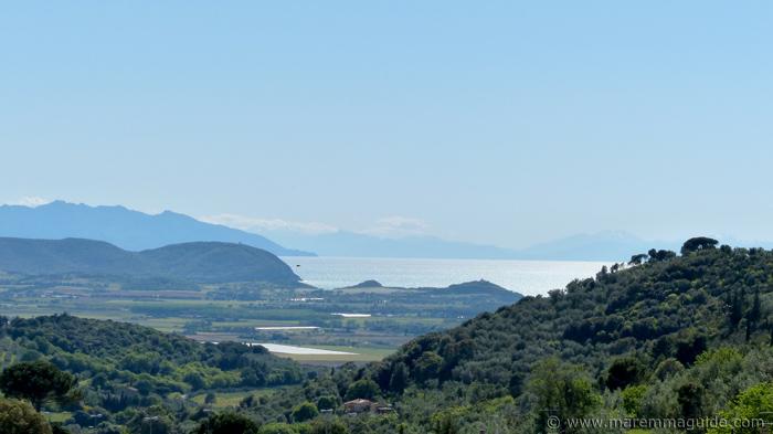View from Campiglia Marittima to Baratti, Isola d'Elba and Corsica.