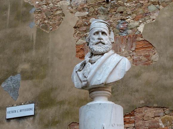 Giuseppe Garibaldi monument in Piazza Garibaldi Campiglia Marittima