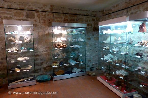 Campiglia Marittima Mineral Museum in Palazzao Pretorio, Maremma Tuscany Italy