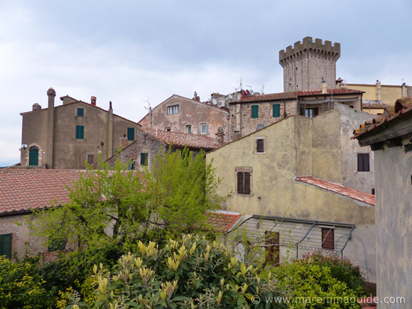 Capalbio's historic centre viewd from the city wall.