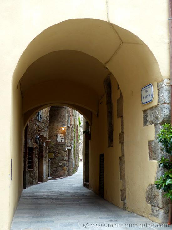 Via Magenta in Capalbio Tuscany Italy.