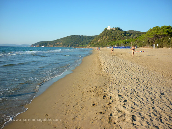 Capanna Civinini beach in October Tuscany Maremma Italy
