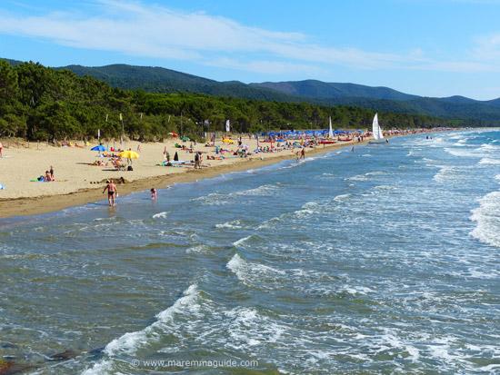 Capanna Civinini beach Punta Ala Maremma Tuscany Italy in June