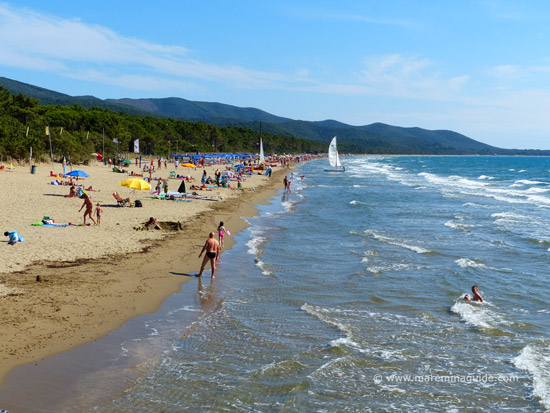 Spiaggia Capanna Civinini beach Punta Ala Maremma Tuscany
