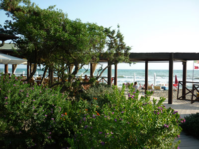 Capezzolo Bagno: Castiglione della Pescaia beach bar & restaurant Maremma Tuscany