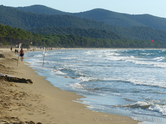 Capo Civinini beach in Maremma Tuscany