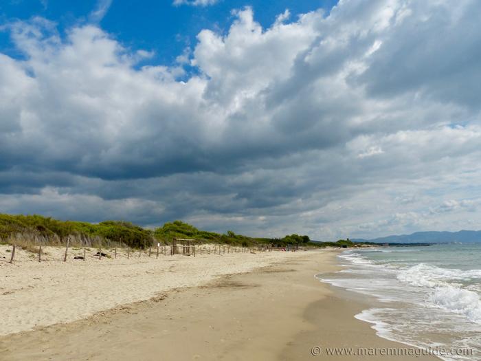 Carbonifera beach Maremma Tuscany Italy.