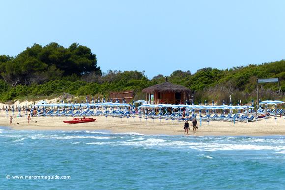 Carbonifera beach mid-May in Maremma Tuscany