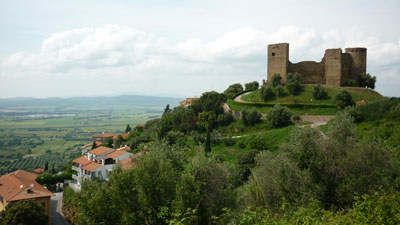 Middle ages castles: Castello di Scarlino in Maremma Grossetana Italy