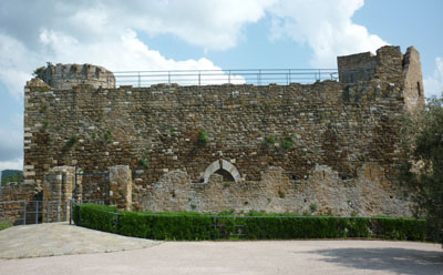 Rocca Pisana a middle ages castle in Scarlino Maremma Italy