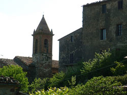 Tatti castle and church, Maremma Italy